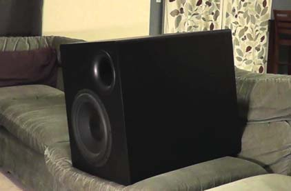 Subwoofer on Couch