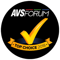 AVS Forum Top Choice award.