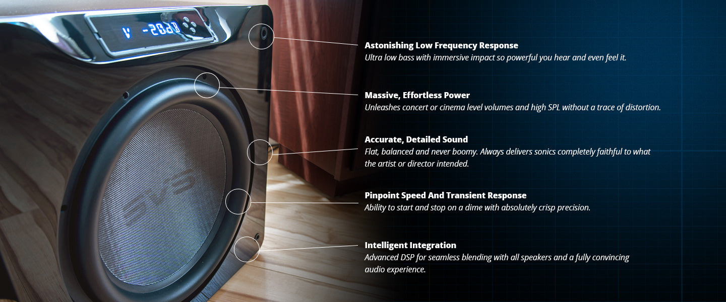 SVS Powered Home Theater Subwoofer Difference
