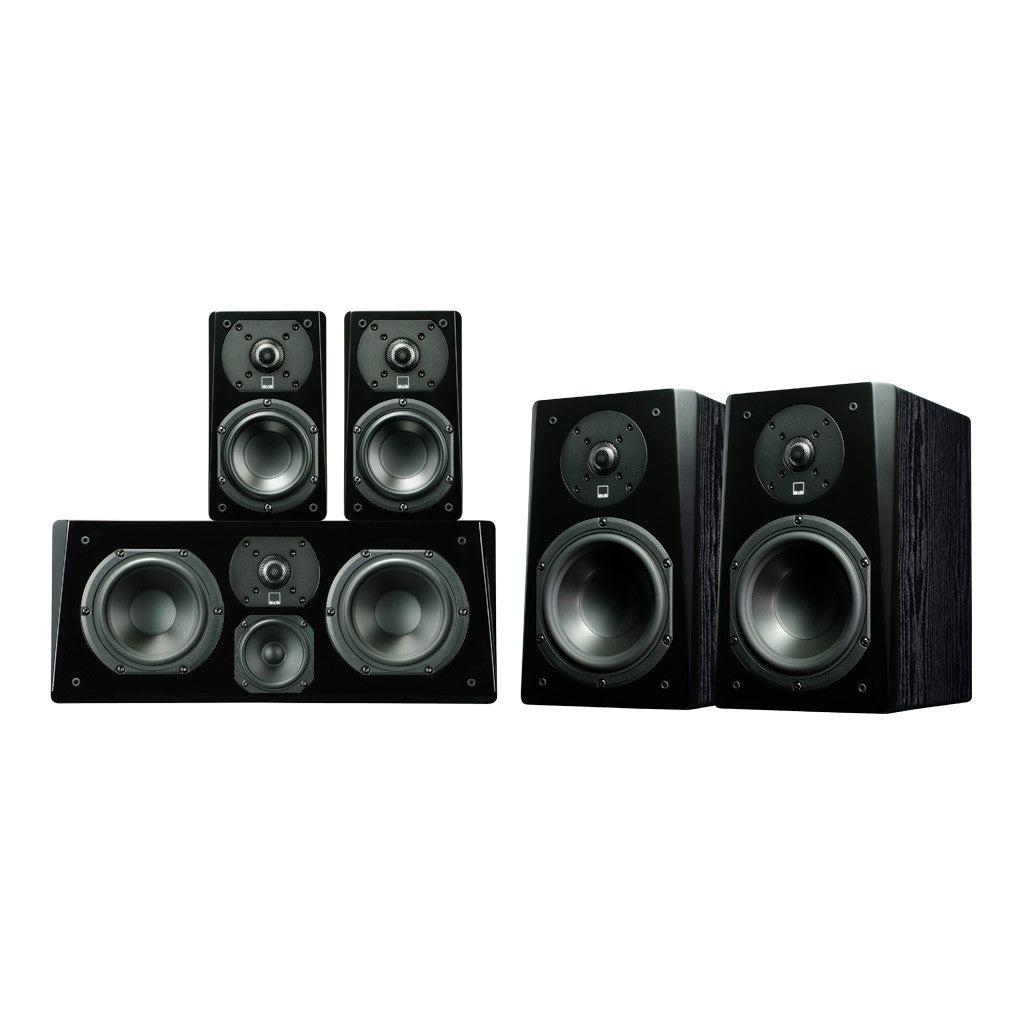 Bookshelf Speaker System in Premium Black Ash