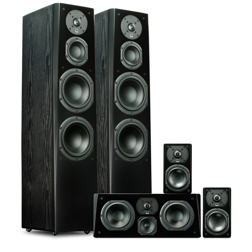 sound system with subwoofer. prime tower surround package - svs home theater loudspeaker system sound with subwoofer
