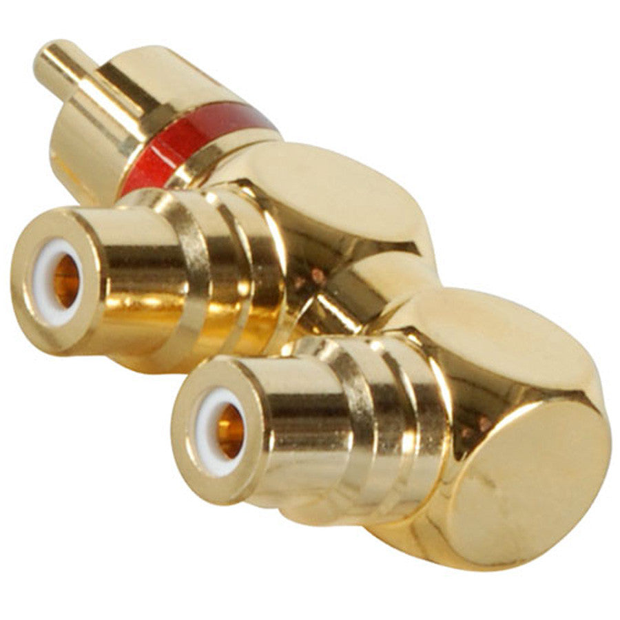 Gold RCA Y Adapter