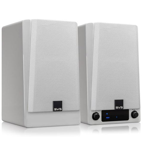 Prime Wireless Speaker Pair - White Gloss - Outlet - 1739