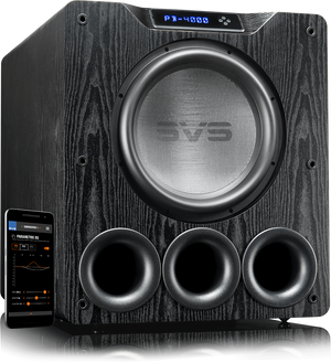 PB-4000 Subwoofer in Premium Black Ash