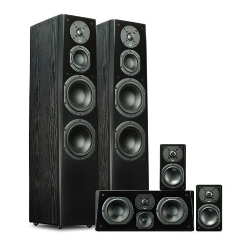 Tower Speaker System in Premium Black Ash
