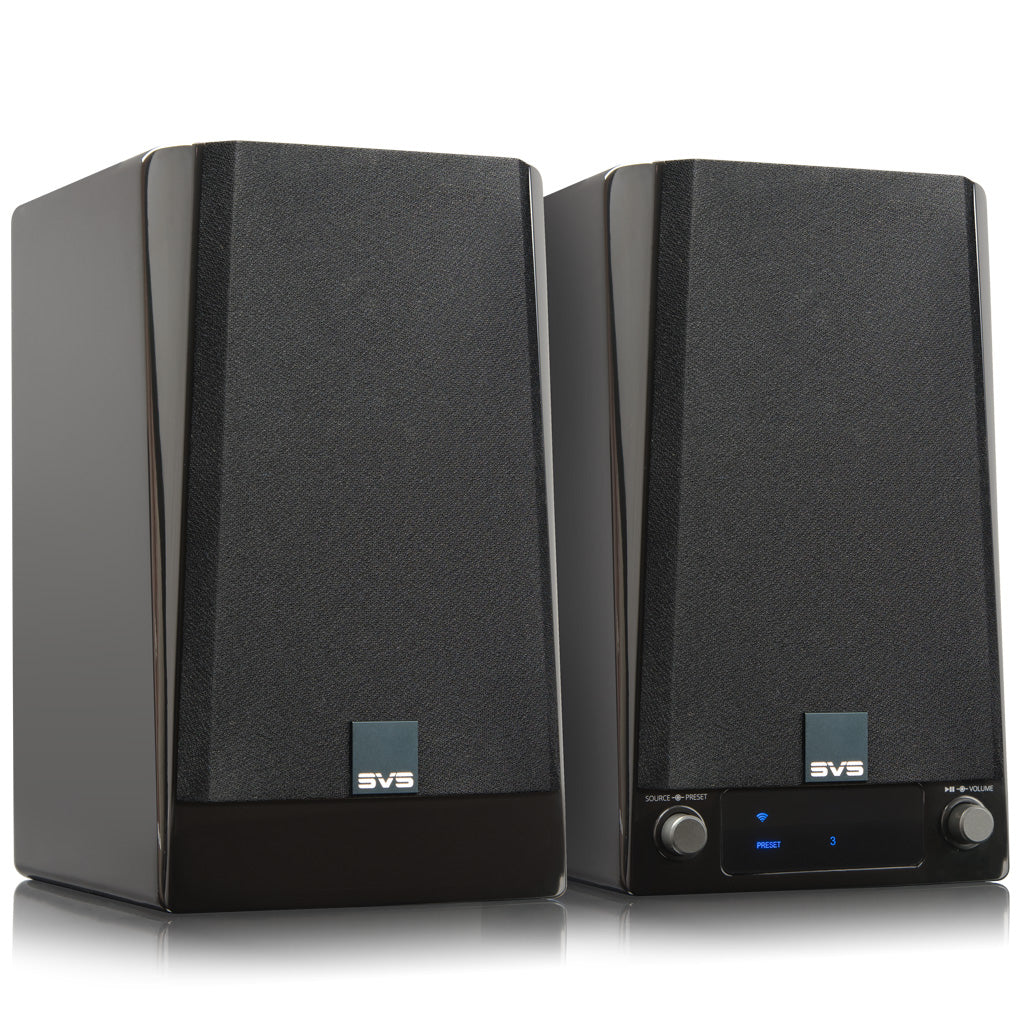 Wireless Powered Speaker System in Piano Gloss Black