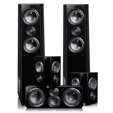 Ultra Tower Speaker System in Piano Gloss Black
