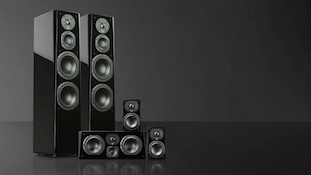 Subwoofer. Links to the speaker Outlet Specials page.