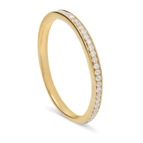 Threads Skinny Gold & Diamond Eternity Ring