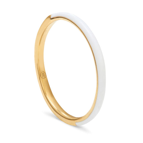THREADS GOLD & ENAMEL SKINNY RING