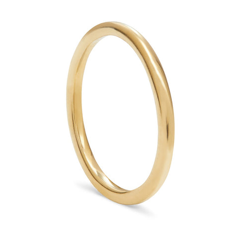 THREADS GOLD STACKING RING
