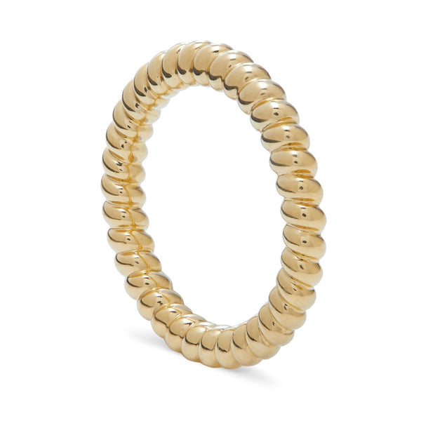 THREADS CHUNKY GOLD TWISTED STACKING RING