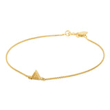 Gold Bella Tri Bracelet with Black Spinel