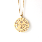 Gold Butterfly Medallion Necklace