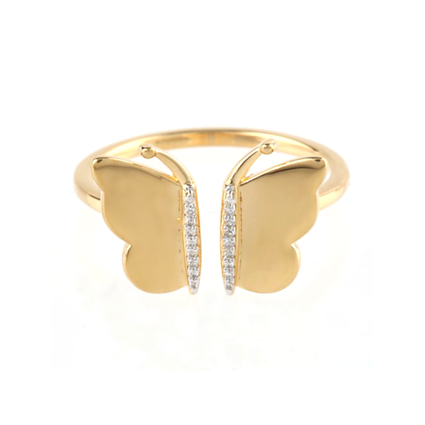 Butterfly Gold and Diamond Ring