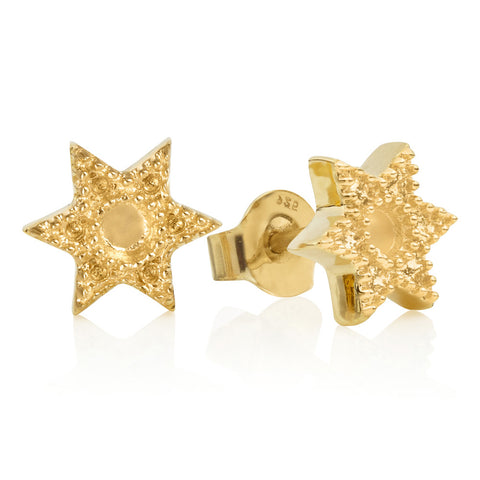 Gold Bella Star Studs