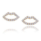 Haute Pout Gold and Diamond Studs