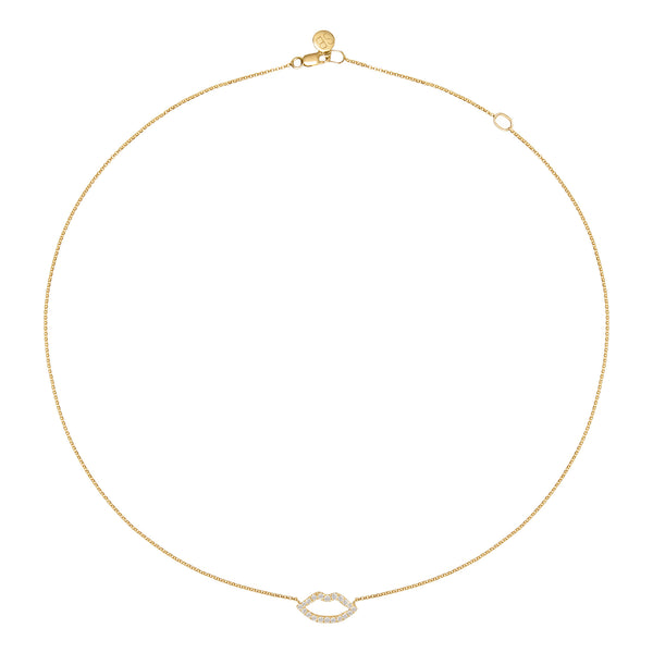 Haute Pout Gold and Diamond Necklace