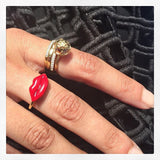 Enamel Pout Ring