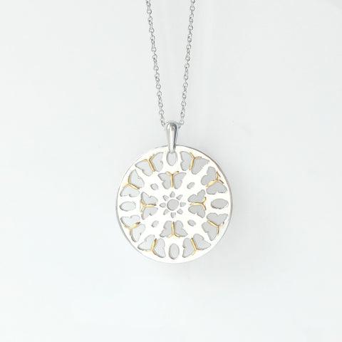 Silver Butterfly Medallion Necklace - SOLD OUT