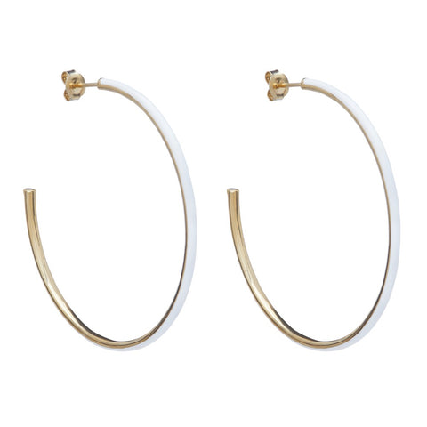Large Enamel Hoop Earring
