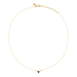Gold Bella Tri Necklace with Black Spinel