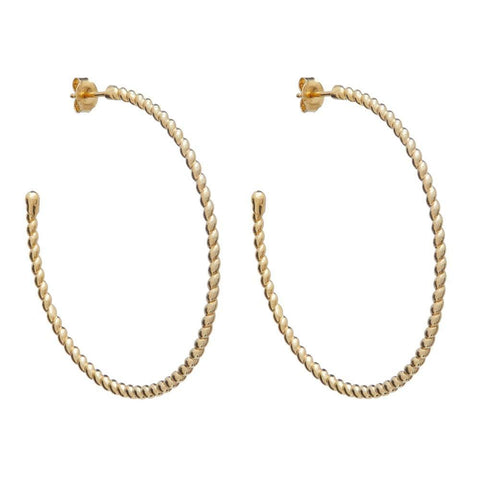 Large Twisted Hoop Earring