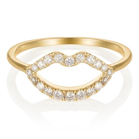 Haute Pout Gold and Diamond Ring
