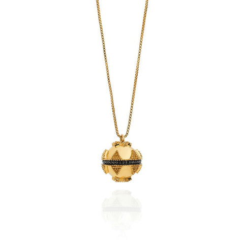 Gold & Black Spinel Bella Ball Pendant