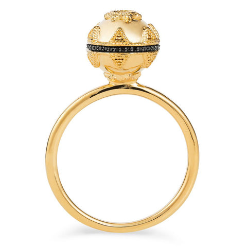Gold & Black Spinel Bella Ball Ring