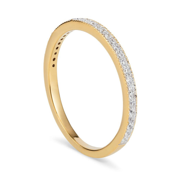 Gold & White Topaz Eternity Ring
