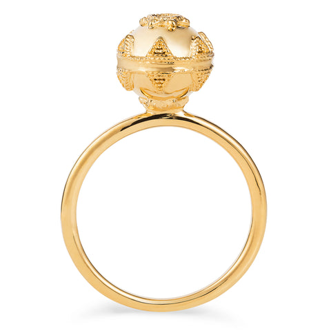 Gold Bella Ball Ring