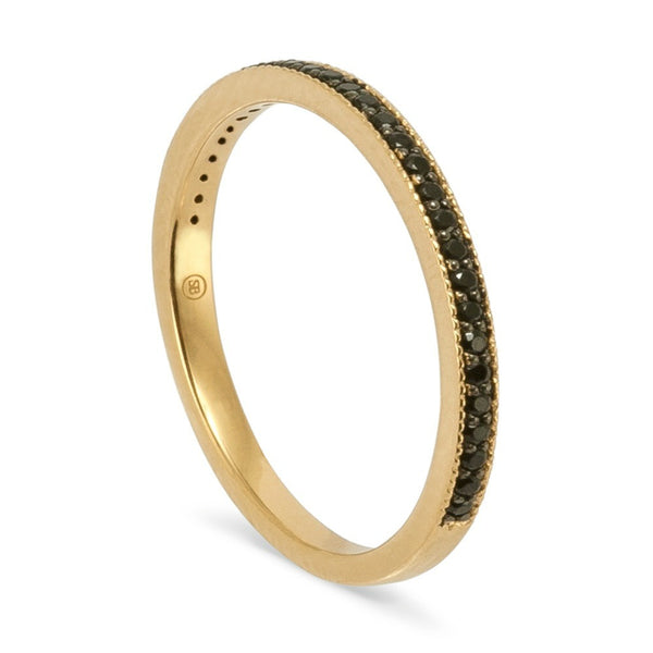 Gold & Black Spinel Eternity Ring