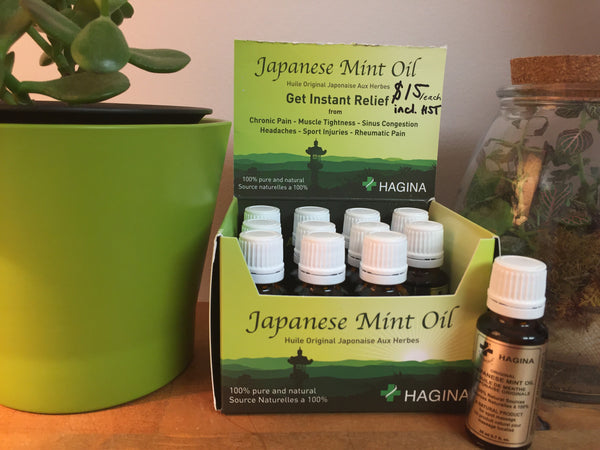 Hagina Japanese Mint Oil - 20ml - Local Pick up in Ottawa