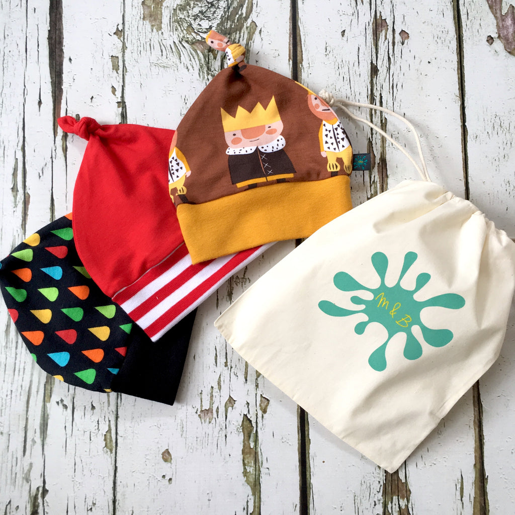 Knotted hats, beanies and headbands!