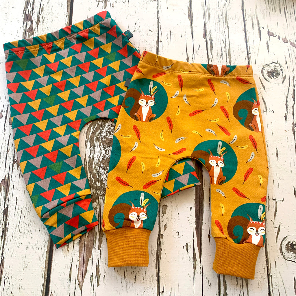 Squirrel baby leggings, kids leggings, toddler leggings