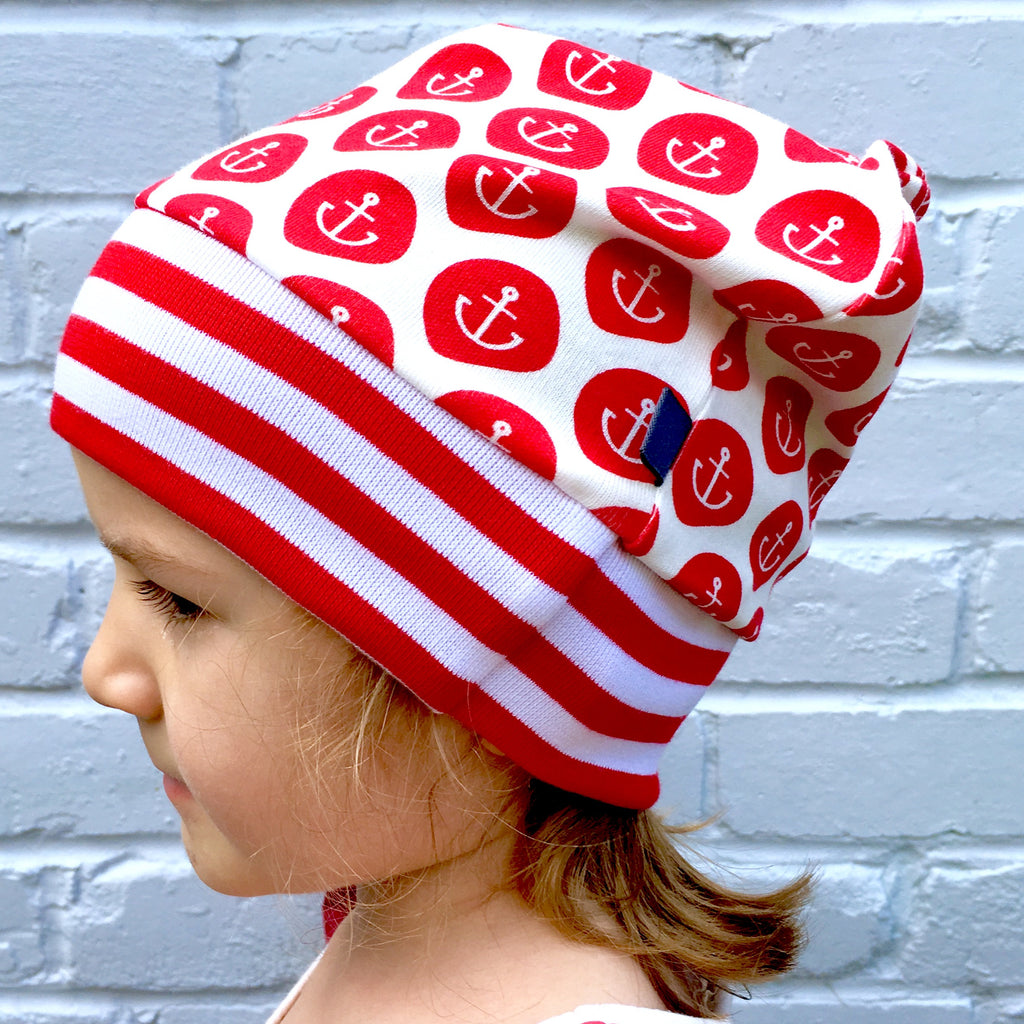 Anchors beanie, slouchy beanie hat, beanie, anchors, sailor, baby hat. toddler hat