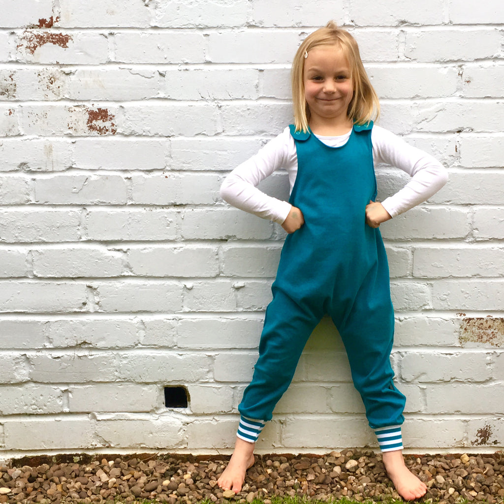 Play romper, stretchy dungarees, romper, kids romper, baby romper, dungarees