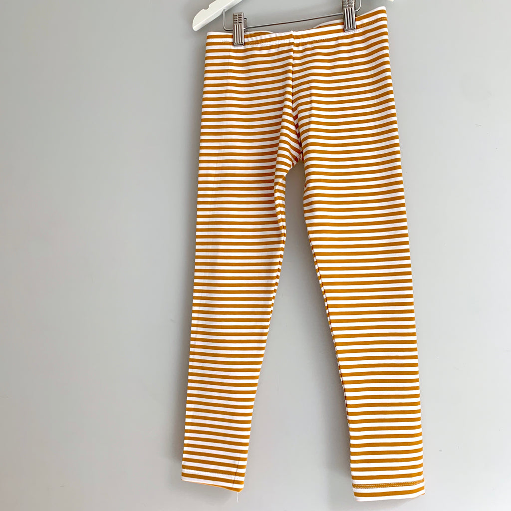 Mustard stripe leggings  (6-12 years)