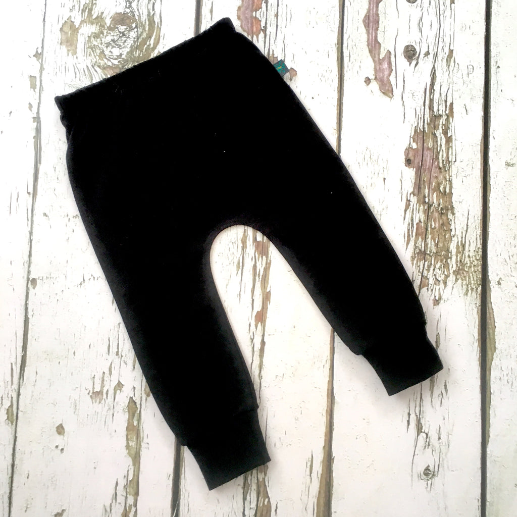 Black baby leggings, kids leggings, toddler leggings