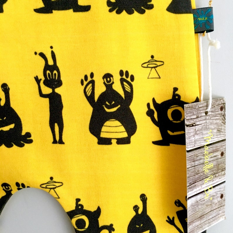 Yellow Alien Baby Leggings
