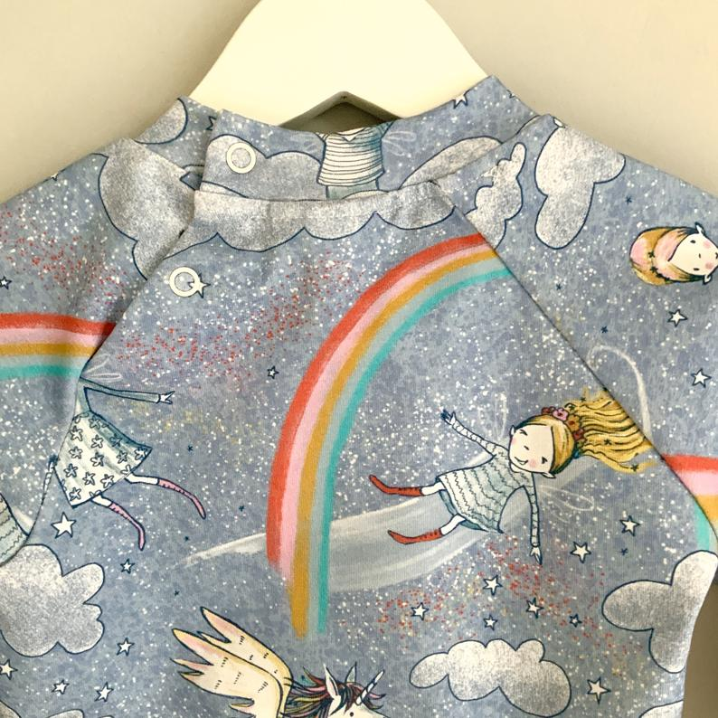 NEW and READY to SHIP! Rainbow unicorn jumper