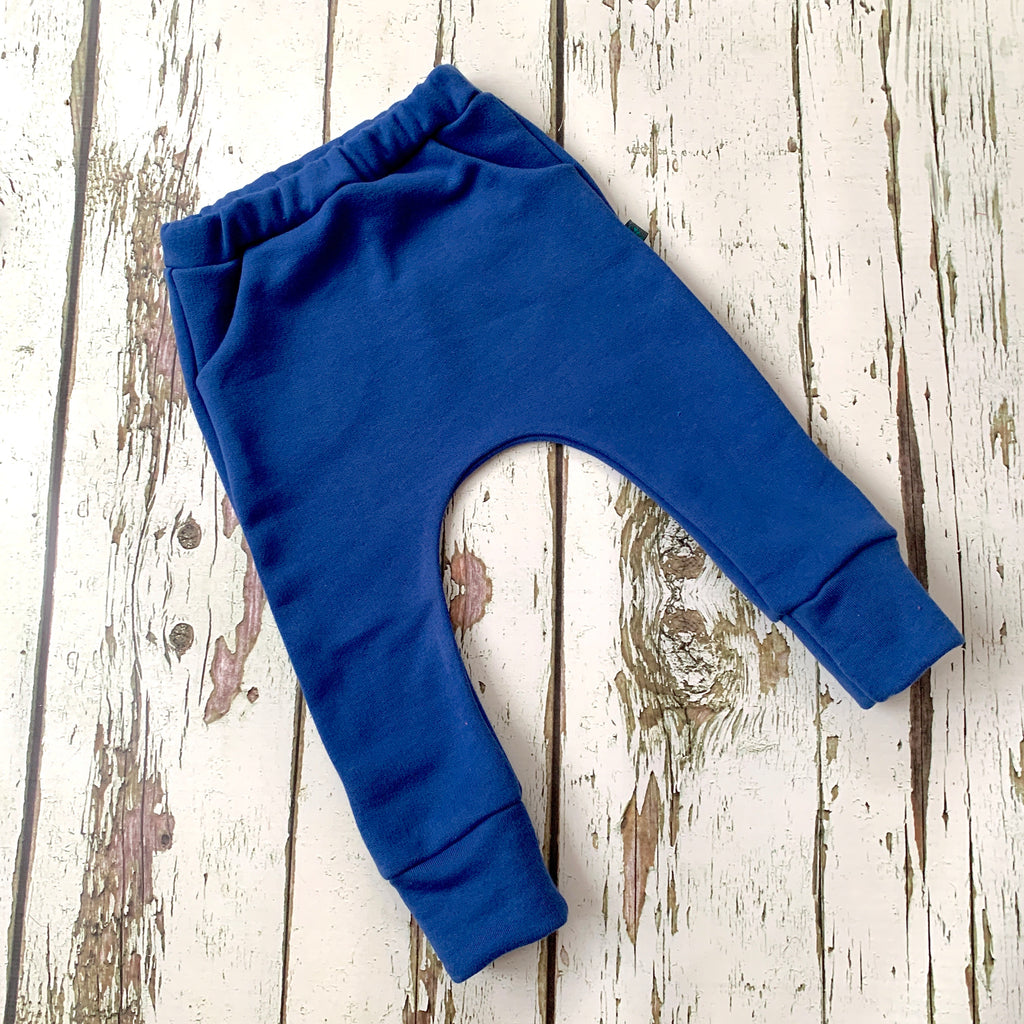 NEW! Navy organic baby child harem sweatpants, baby sweatpants,  joggers