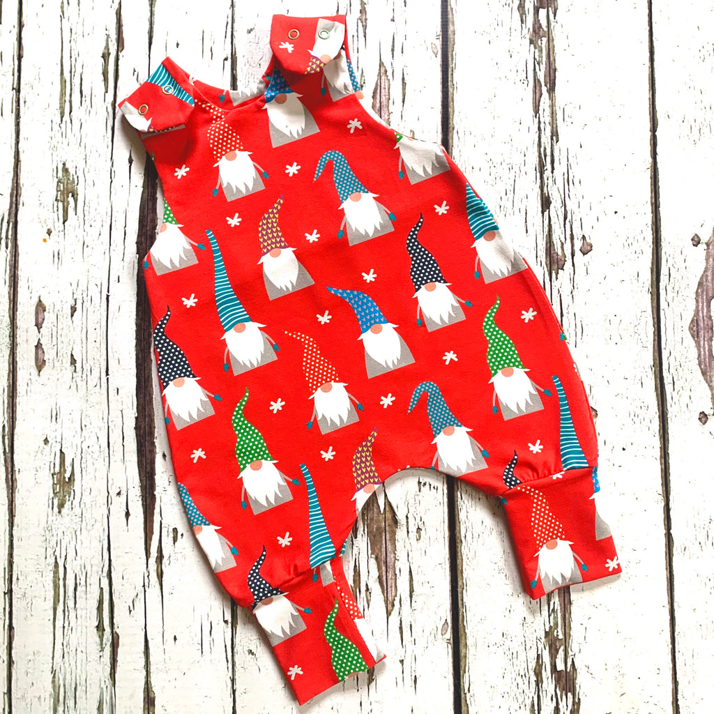 NEW! Christmas Red Gnomes Romper