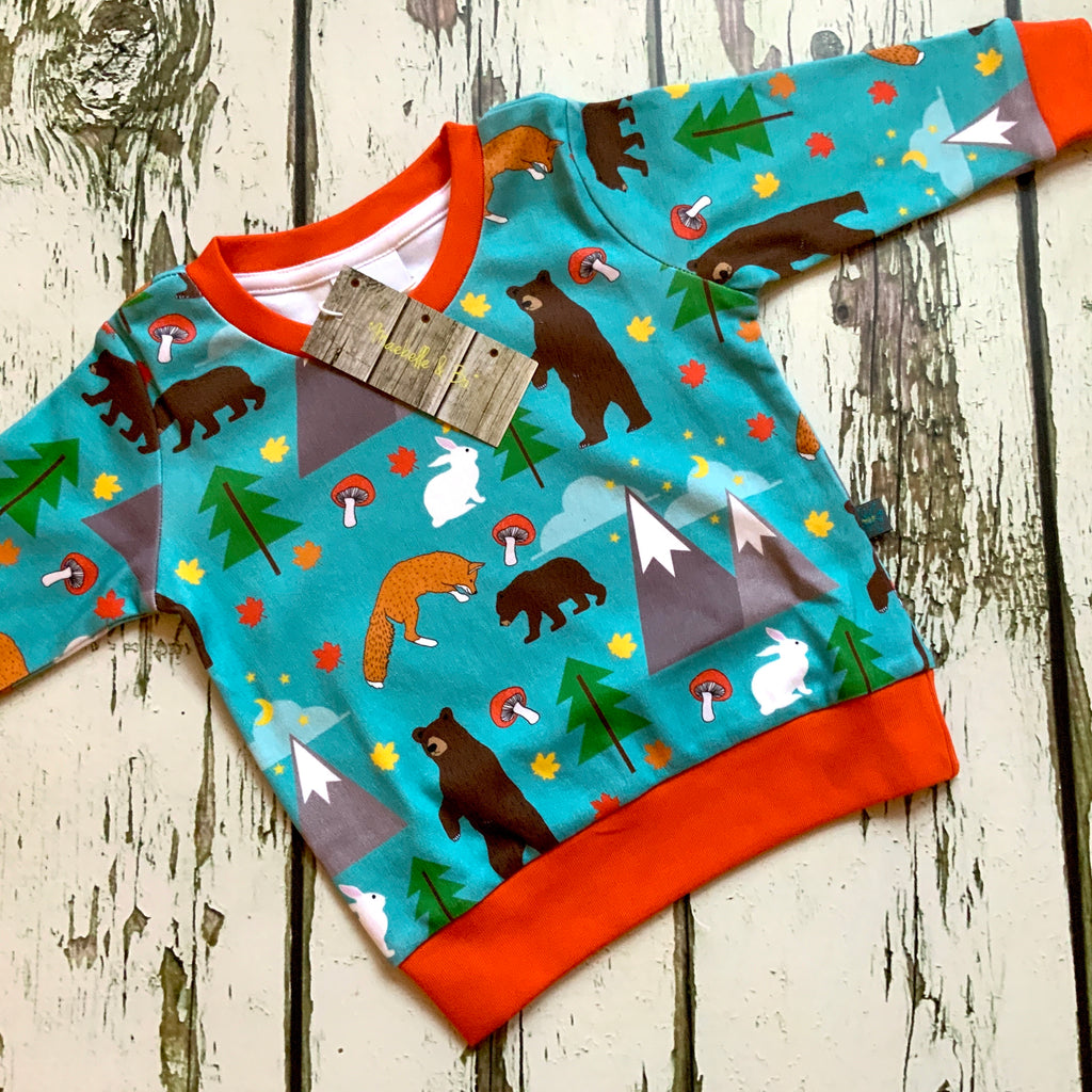 Organic bears top, baby jumper, toddler jumper