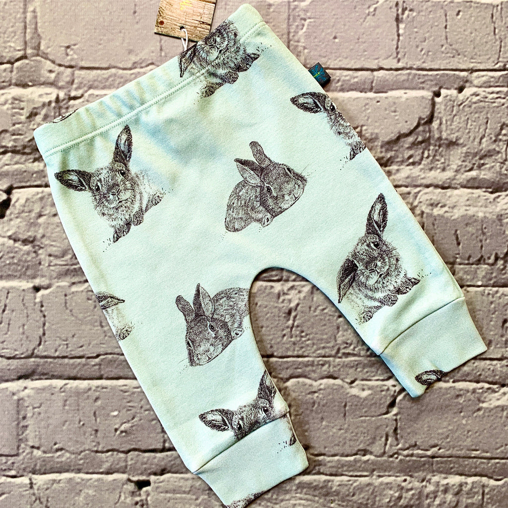 READY TO SHIP Organic green bunny top, baby jumper, toddler jumper