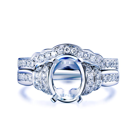 Reserved for Kiki- platinum Diamond Engagement Semi Mount Ring and Contour Band