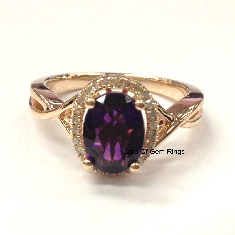 purple ring diamond amethyst unique alternating set rings vidar shop wedding engagement