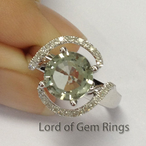 Reserved for arachnel,Custom Made Engagment Ring Semi Mount for 8mm Round - Lord of Gem Rings - 1