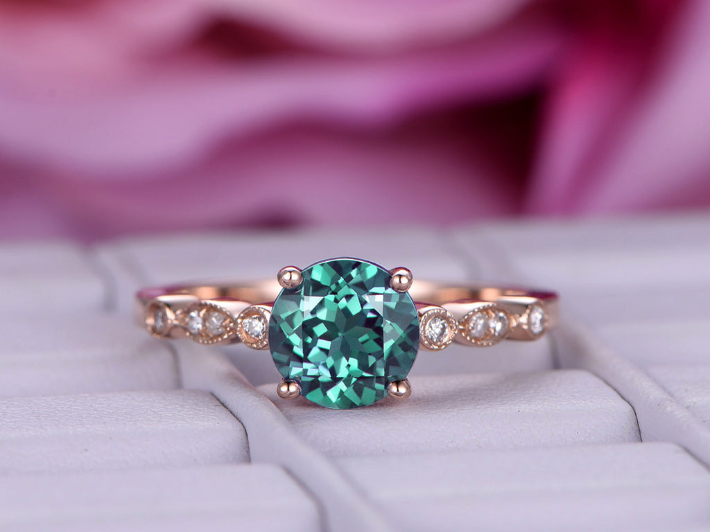 rings carats diamond wedding estate jewelry changing color ring and alexandrite gemstones